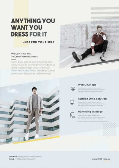 Fashion Promote Free PSD Flyer Template