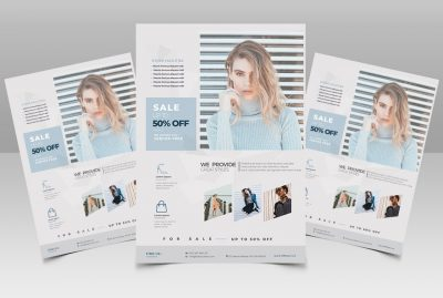 Fashion Sale Free PSD Flyer Template