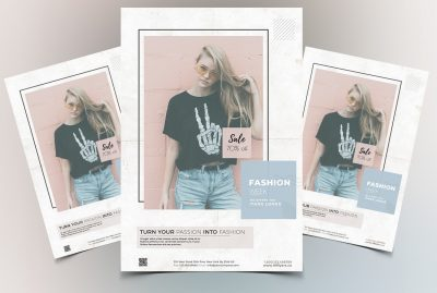 Fashion Week Clean Free PSD Flyer Template