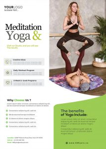 Free Yoga Workout PSD Flyer Template