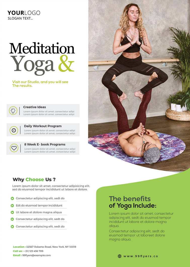 Free Yoga Workout Psd Flyer Template Stockpsd