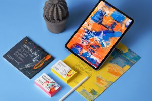 Free iPad Stationery Mockup