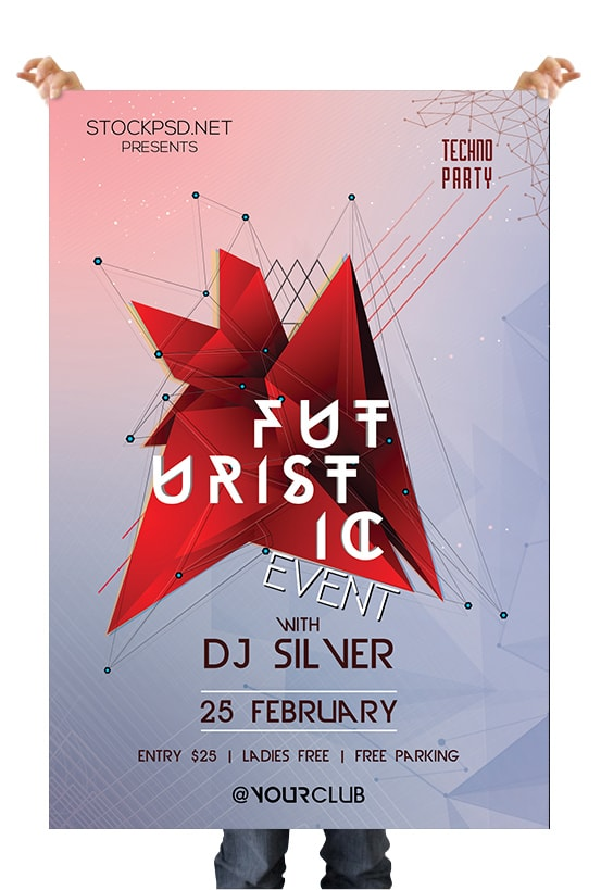Futuristic Event Free PSD Flyer Template