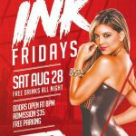 Ink Party Free PSD Flyer Template