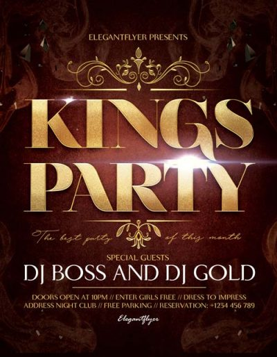 Kings Party Free PSD Flyer Template