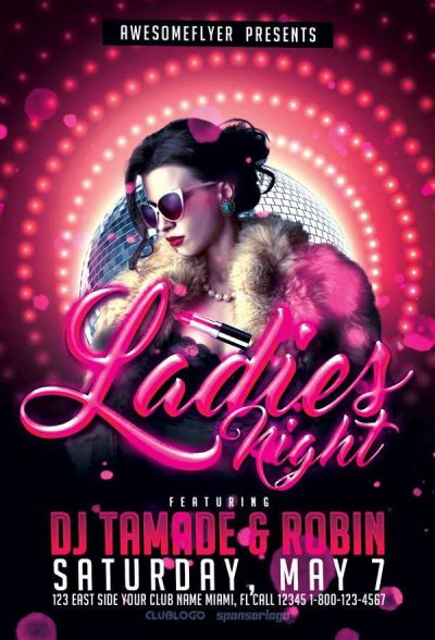 Ladies Night #5 Free PSD Flyer Template
