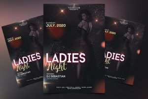 Ladies Night #6 Free PSD Flyer Template