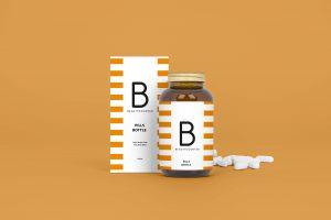Medical Bottle Free Mockup Packaging