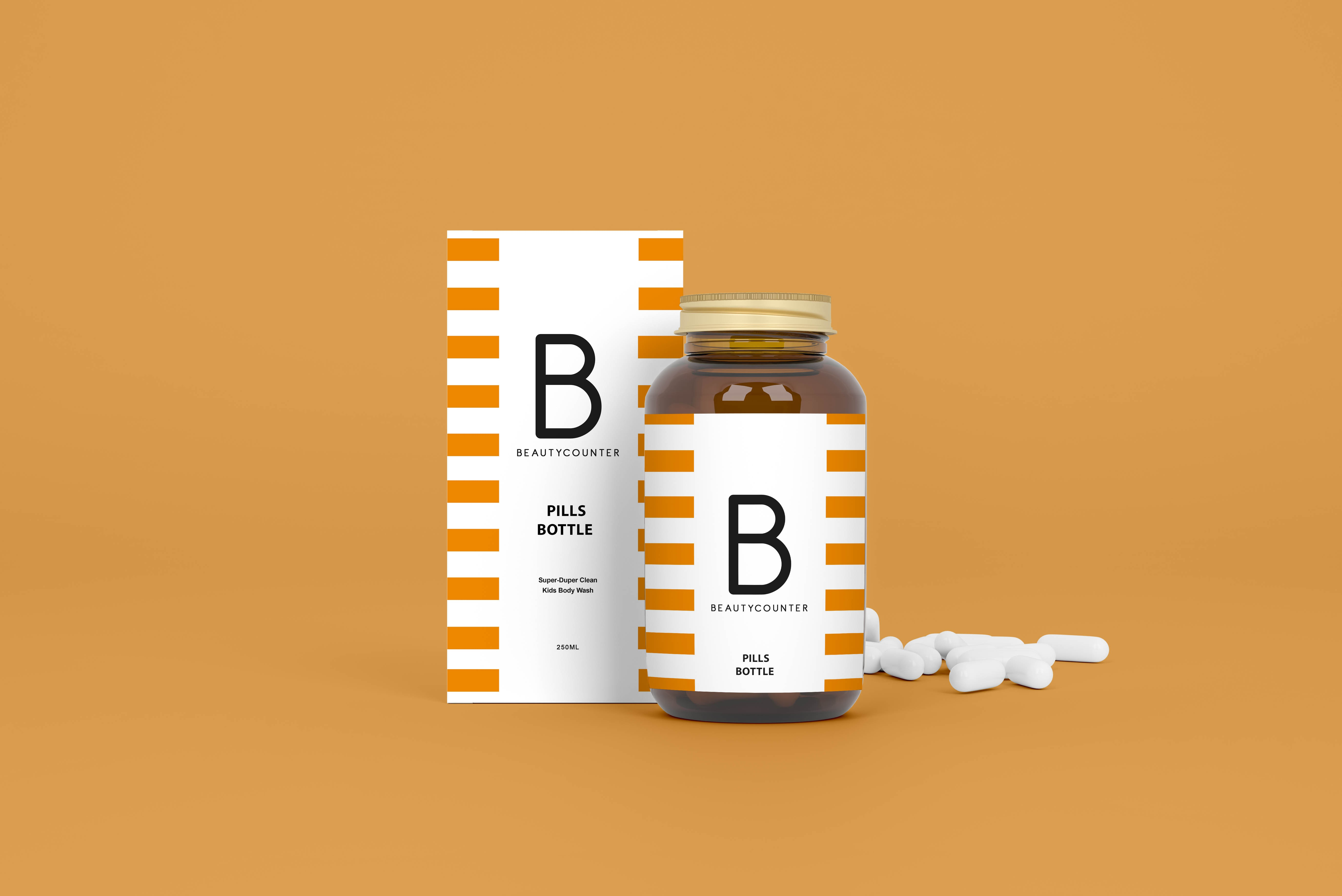 Medical Bottle Free Mockup Packaging