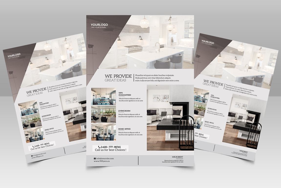 Real Estate Free PSD Flyer Template