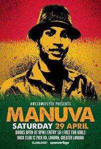 Reggae Artist Free PSD Flyer Template