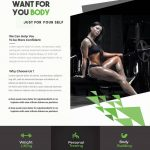 Shape Body - Fitness Free PSD Flyer Template