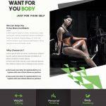 Shape Body - Fitness Free PSD Flyer Template
