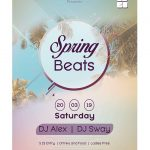 Spring Beats Free PSD Flyer Template