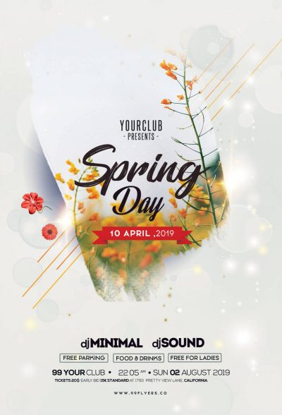 Spring Day - Free PSD Flyer Template