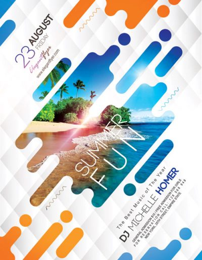 Summer Fun Free PSD Flyer Template