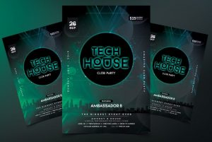 Tech House Free PSD Flyer Template