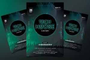 Tech House Free PSD Flyer Template