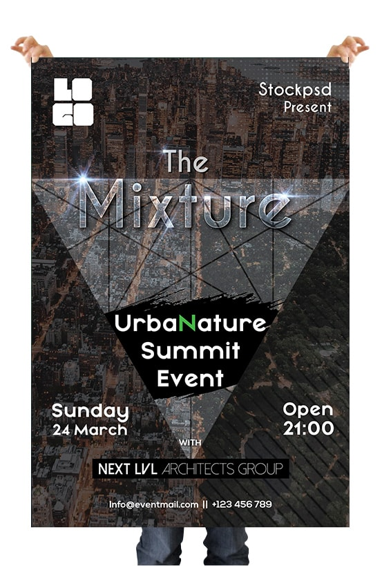 The Mixture Event Free PSD Flyer Template
