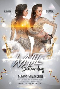 White Party Free Elegant PSD Flyer Template