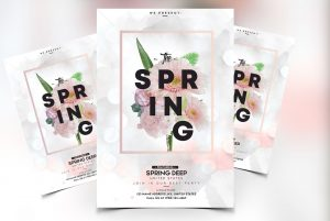 White Spring Free PSD Flyer Template