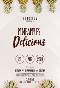 Pineapples Free Minimal PSD Flyer Template