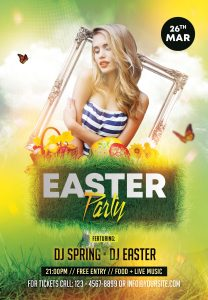 Spring Easter Event Free PSD Flyer Template