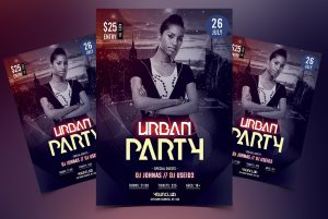 Urban Party Event Free PSD Flyer Template