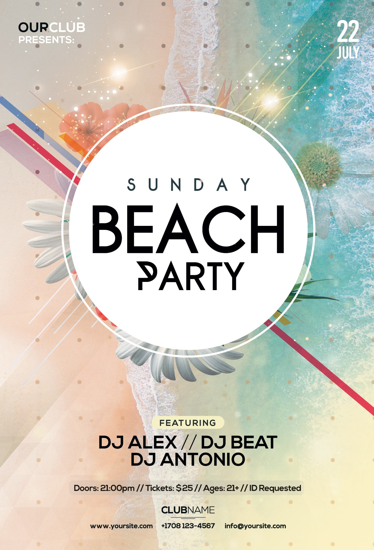 Sunday Beach Summer Free PSD Flyer Template