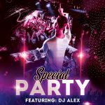 Special Party Free PSD Flyer Template