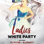 White Ladies Party Free PSD Flyer Template