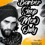 Barbershop Men Free PSD Flyer Template