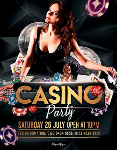 Casino Party Free PSD Flyer Template