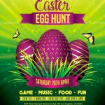 Egg Hunt Easter Free PSD Flyer Template