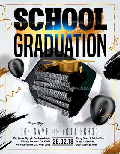 School Graduation Free PSD Flyer Template