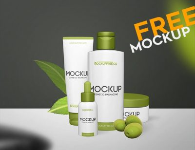 Cosmetic Packaging Free PSD Mockups
