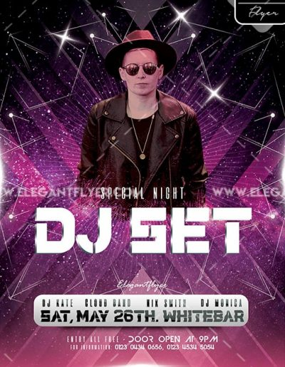 DJ Set Event Free PSD Flyer Template