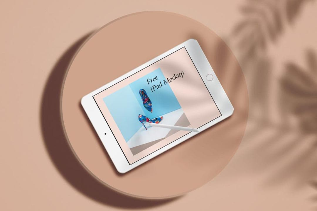Free Minimal iPad PSD Mockup