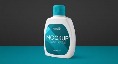 Soap Bottle Free PSD Mockup