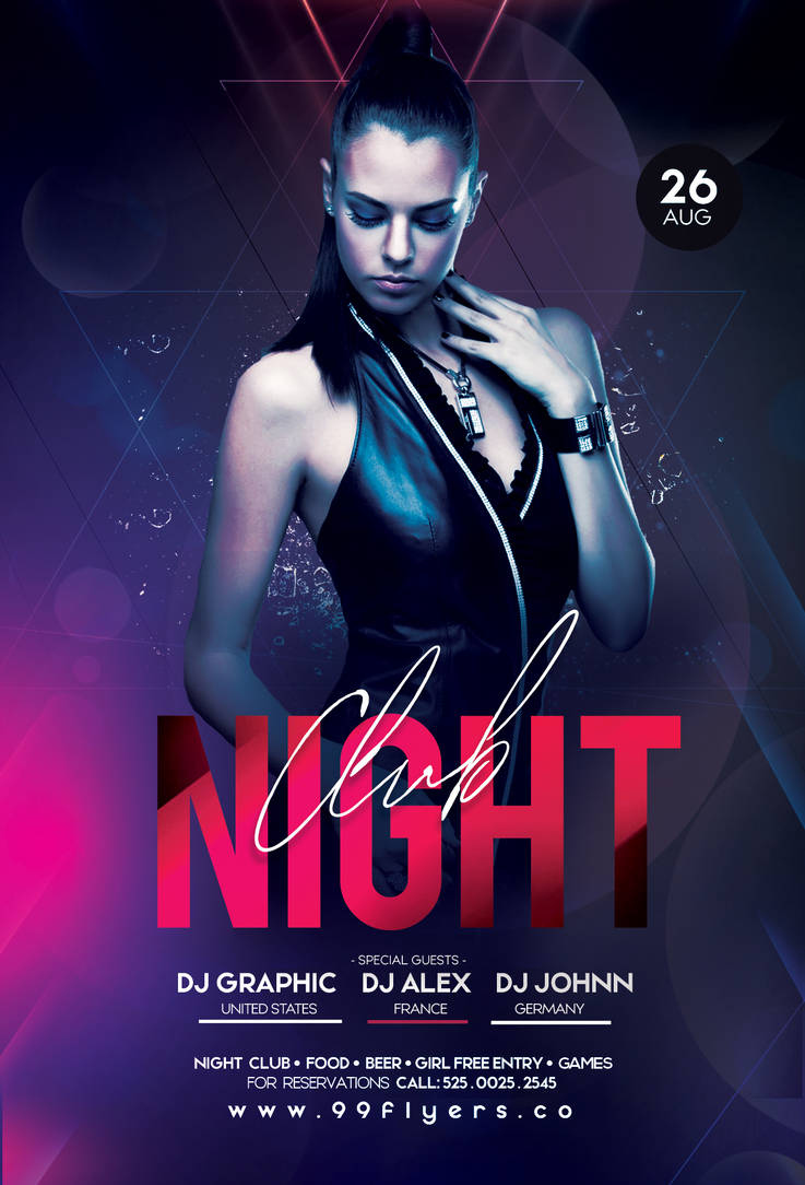 Night Club - DJ Free PSD Flyer Template