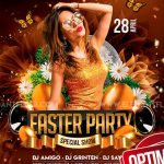 Easter Party #2 Free PSD Flyer Template