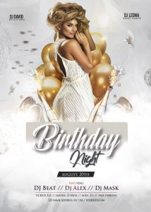 Birthday Party Out Free PSD Flyer Template