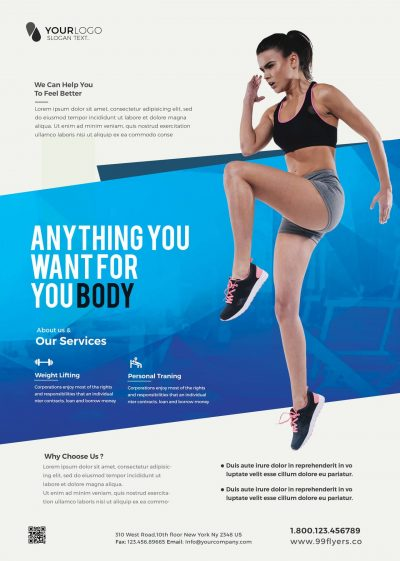 Clean Fitness Free PSD Flyer