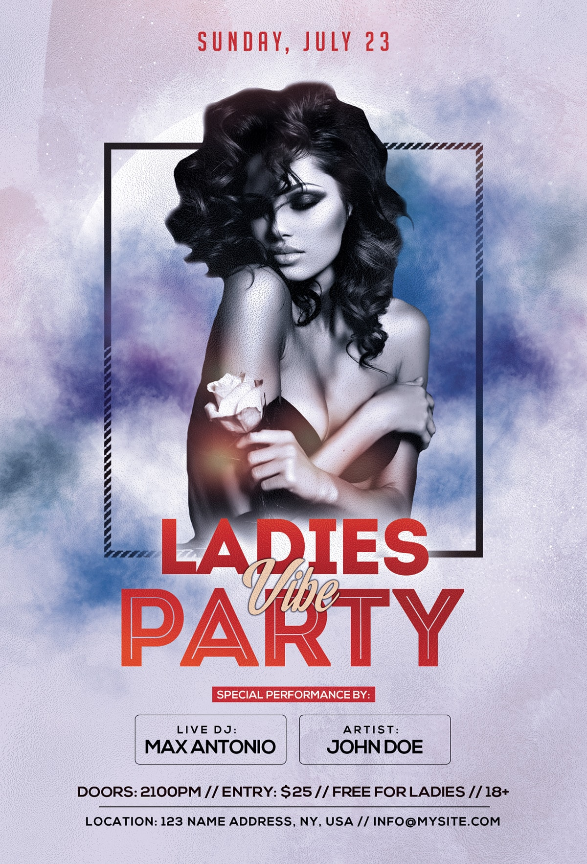 Ladies Vibe Party Free PSD Flyer Template