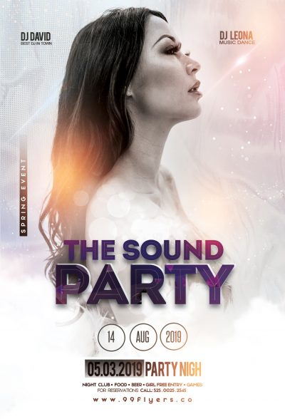 The Sound Party Free PSD Flyer Template