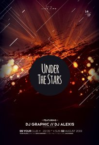 Under The Stars Free PSD Flyer Template