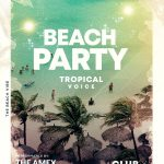 Beach Vibe Summer Free PSD Flyer Template