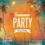 Beach Party #2 Free PSD Flyer Template