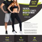 Gym And Fitness Free PSD Flyer Template