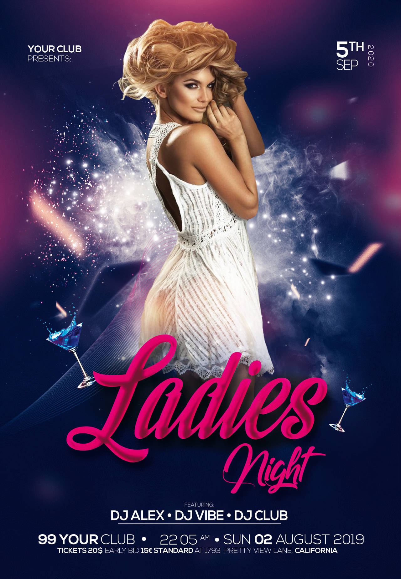 Girls Night Out #2 Free PSD Flyer Template